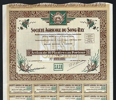 1927 Saigon: Societe Agricole du Song-Ray