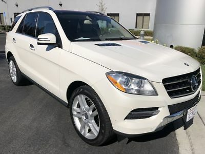 2013 M-Class ML 350 Sport Utility 4D White Mercedes-Benz M-Class with 105,636 Miles available now!