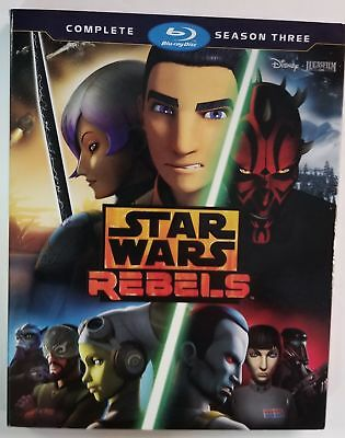 Star Wars Rebels: The Complete Season Three [Blu-ray] [2017] (Brand New)