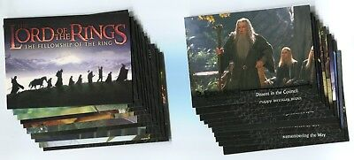 LORD OF THE RINGS: FELLOWSHIP OF RING 2001 Base Trading Card LOT!! NM/M 31 Cards