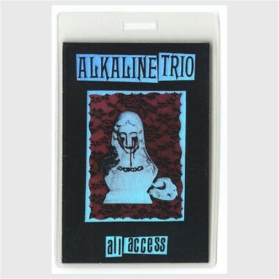 Alkaline Trio authentic 2000's concert tour Laminated Backstage Pass ALL ACCESS