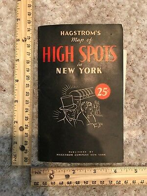1945 Hagstrom's Map of High Spots in New York City~116728