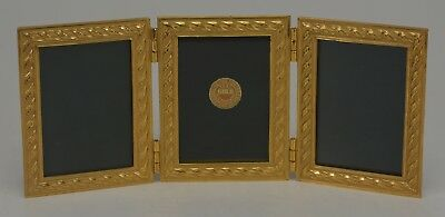 Elias Artmetal Gold Plated Triple Rope Picture Frame Style # 2001TG