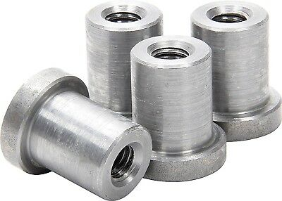 "Weld on Nuts 1/2""-13 Thread LONG Threaded Nut Steel Chassis Mount Tab Pack of 4"