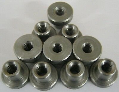 "Weld on Nuts 1/4""-20 Thread Threaded Nut Steel Chassis Mount Tab Pack of 10"