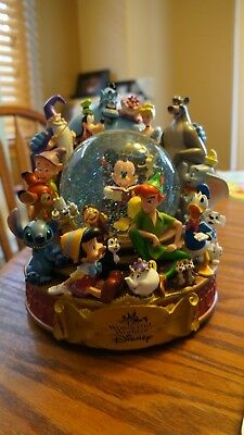 Wonderful World of Disney Premium Musical Snowglobe Featuring Mickey Mouse Works