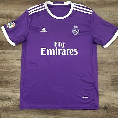 Real Madrid Soccer Jersey 2016 2017 Away  1 Adidas Purple Mens Size Large.  C2 860ac46d8