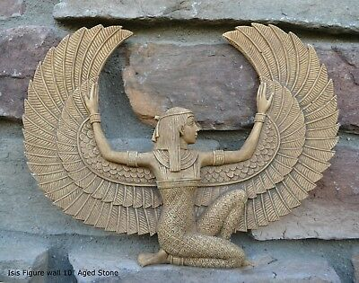 Egyptian Isis Figure wall Sculpture Statue plaque  10""