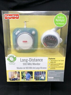 Fisher Price Long Distance 900 Mhz Baby Monitor W Nightlight