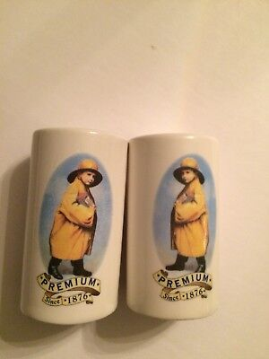 Nabisco Uneeda Biscuit Salt and Pepper shakers. Promotional Advertising Items