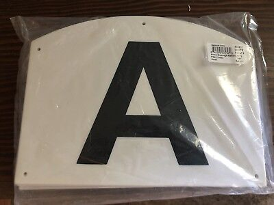 dressage arena letters 8 x 105 white set of 8 for small arenas