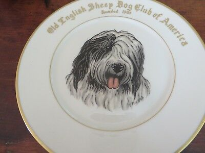 OLD ENGLISH SHEEPDOG CLUB DINNER PLATE~Abercrombie and Fitch?