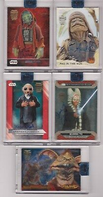 2018 Topps Star Wars ARCHIVES AUTOGRAPH BUYBACK LOT (5)