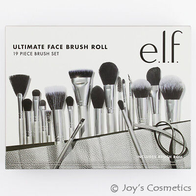 "1 ELF Ultimate Face Brush Roll & 19 Piece brush Set ""B85072-1"" Joy's cosmetics"
