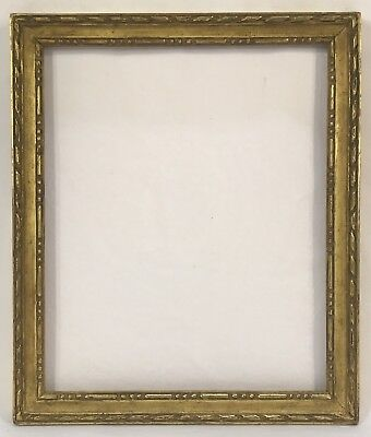 Antique Early 20th C Hand Carved Gold Gilt Frame 7 3/8 x 9 Opening