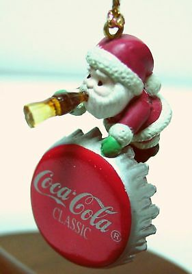 "COCA-COLA ORNAMENT ""Sign of Good Taste"" Santa Coke Cap Miniature ENESCO 1991 NOS"