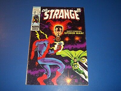 Dr. Strange #179 Silver Age Spider-man Wow Fine Beauty