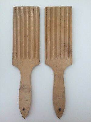 Vintage butter paddles or gnocci rollers 22cm