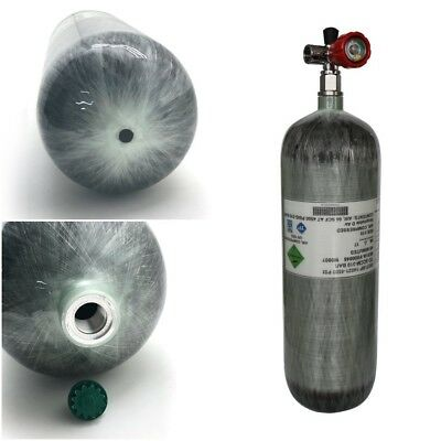 DOT High Pressure Air 6.8L/4500psi Cylinder Carbon Fiber Tank Paintball+Valve