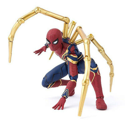 Marvel Spider Man Iron Spider Avengers Infinity War 6'' Action Figure Toy Gifts