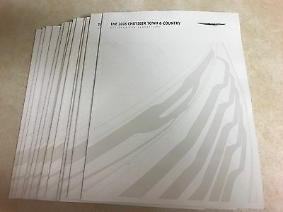 34 total 2016 Chrysler Town & Country 42-page Original Sales Brochure