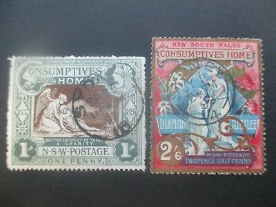 NSW Stamps: Consumptives Set Used Great Item Used   (k39
