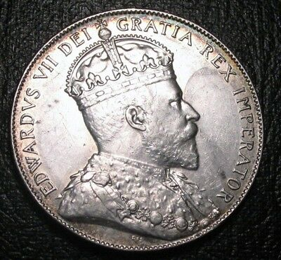 Old Canadian Coins 1904 H Newfoundland Fifty Cents Highgrade Beauty