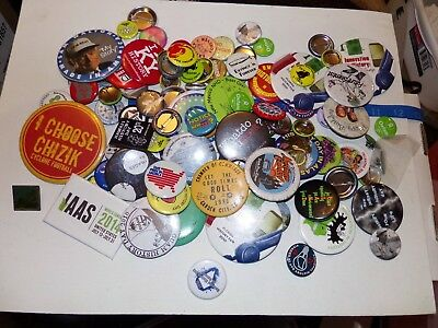 Pin back buttons huge lot over 90
