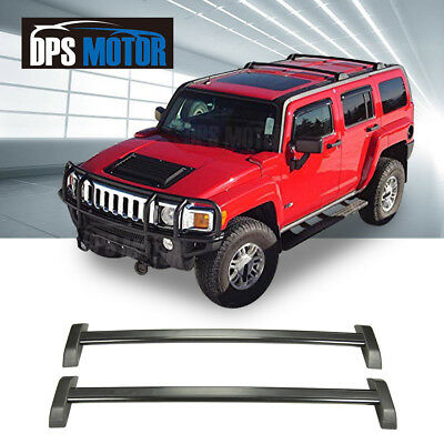 Fit for 06-10 Hummer H3 H3T OE Style Roof Rack Cross Bars Set W// Lock Luggage