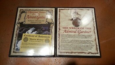 "East India Company ""Admiral Gardner"" 1808 Shipwreck Coin with Certificate"