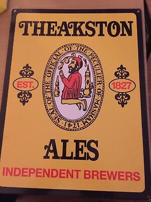Theakston Ales Beer Retro Metal Pub Sign