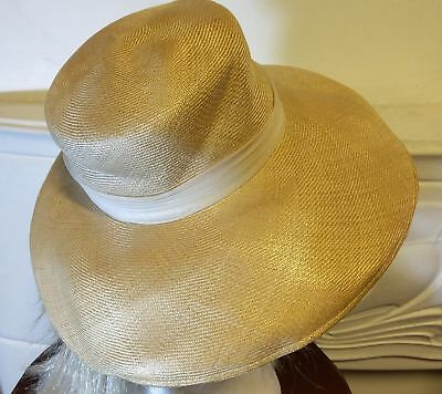 1950's paper-braid sunhat by 'Whitmor Modes'.
