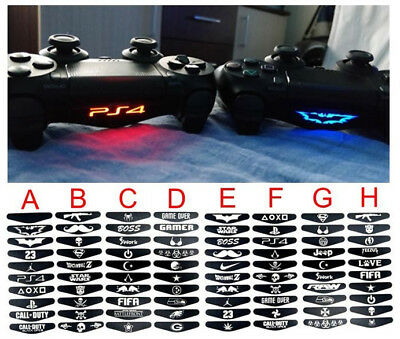 10 sets 80pcs PlayStation 4 PS4 Controller Led light bar decal to choose from