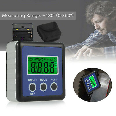 LCD Digital Bevel Level Box Protractor Gauge Angle Finder Inclinometer Magnetic