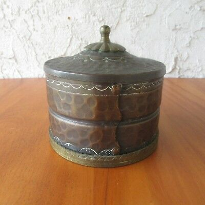 Vtg Craftsman Studios Hammered Copper Tobacco Jar Laguna Beach Arts Crafts