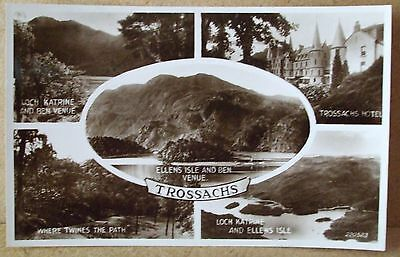 Old Real Photo Postcard - Trossachs Perthshire Scotland