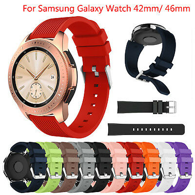 Sport Silicone Band for Samsung Galaxy Watch 46mm 42mm Bracelet Rubber TPU Strap