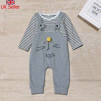 Newborn Baby Boy Girl Cute Bear Romper Bodysuit Jumpsuit Infang Outfits Clothes