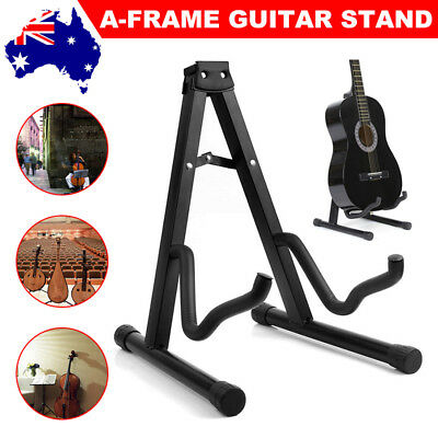 Portable Electric Acoustic Bass Guitar Stand A Frame Floor Rack Folding Holder
