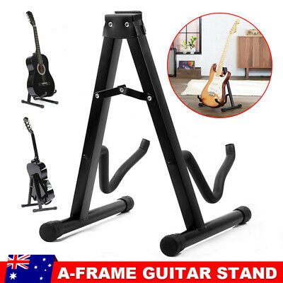 Portable Folding Electric Acoustic Bass Guitar Stand Floor Rack A Frame Holder