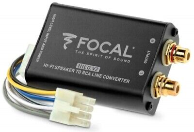 Focal Hi-Lo V2 2-Kanal High Low Adapter mit Remotegenerierung Converter Cinch
