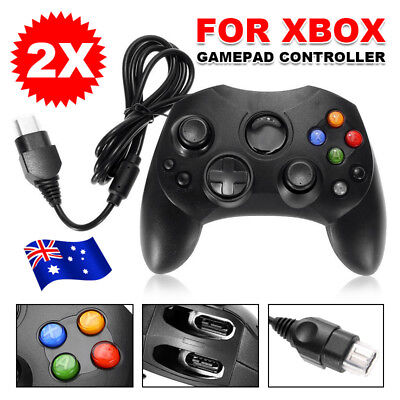 2 Black Dual Shock USB Game pad Controller PC Joypad For Microsoft Original XBOX