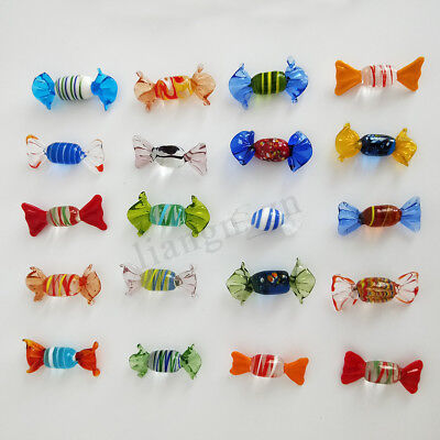 24pcs Vintage Murano Glass Sweets Candy Christmas Decorations Kids Ornament