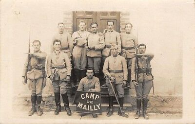 10 . n°46858 . mailly . carte photo.militaires
