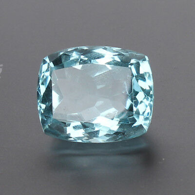 23.50 Ct. Natural Aquamarine Greenish Blue Color Cushion Cut Loose Certified Gem