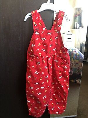 Vintage Red Dungarees Unisex 18-24 Months