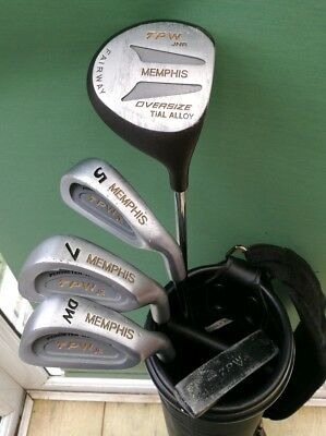 A Nice Set Of Memphis Junior Golf Clubs & Bag Aged 11 - 14 In Good Condition.