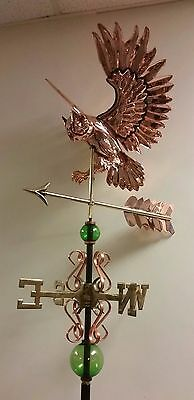 Beautiful  COPPER OWL WITH ARROW  weathervane, AS SHOWN