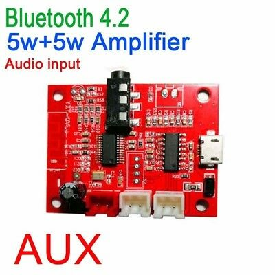 Bluetooth 4.2 receiver Amplifier Audio Board 5W+5W Stereo AMP AUX DC 3.7-5V