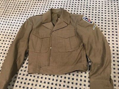 WWII Military Uniform Army Wool Field Jacket 11th Airborne Division Sz. 34s WW2